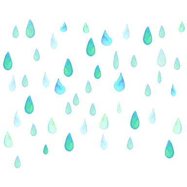 sticker gouttes d'eau