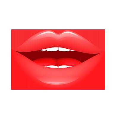 sticker lèvres rouges