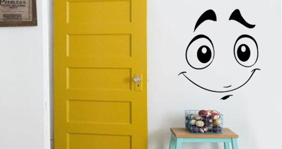 sticker sourire amusant