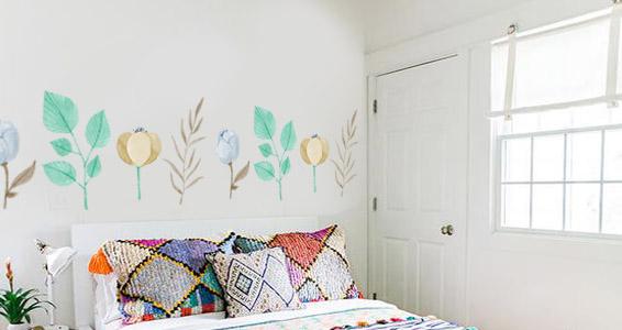 sticker fleurs pastels et créatives