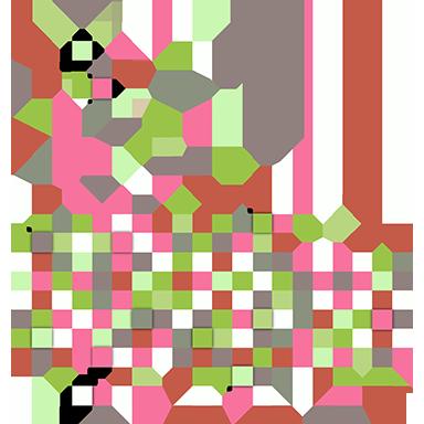sticker nuage de pixels