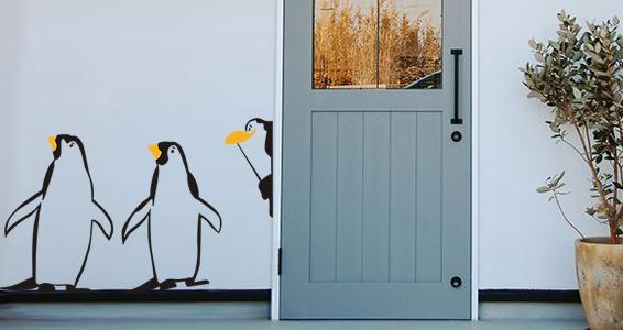 sticker Pingouins Les Trois Copains