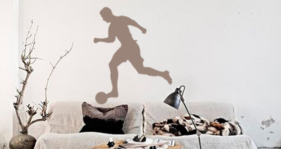 sticker Footballeur