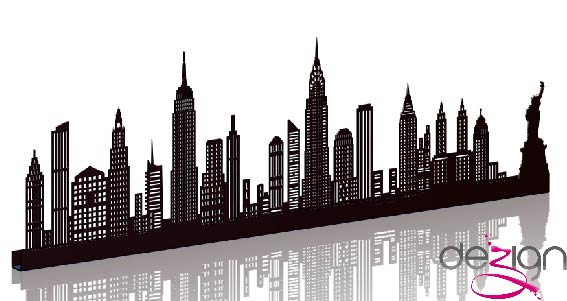 sticker NEW YORK GRAND NOIR SHADOW-3D