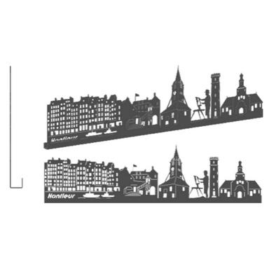 sticker HONFLEUR GRAND GRIS ANTHRACITE SHADOW-3D
