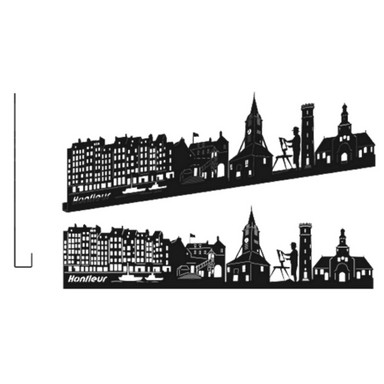 sticker HONFLEUR GRAND NOIR SHADOW-3D
