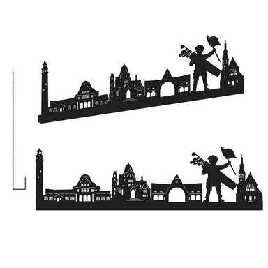 sticker LE TOUQUET GRAND NOIR SHADOW-3D