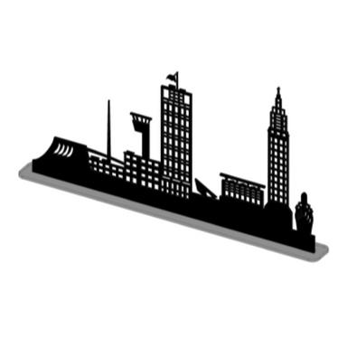 sticker LE HAVRE PAQUEBOT sur SOCLE PETIT NOIR SHADOW-3D
