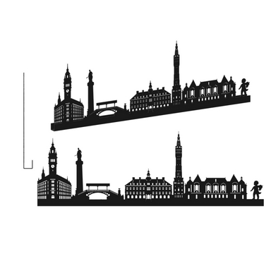 sticker LILLE GRAND NOIR SHADOW-3D