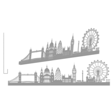 sticker LONDON GRAND GRIS ANTHRACITE SHADOW-3D