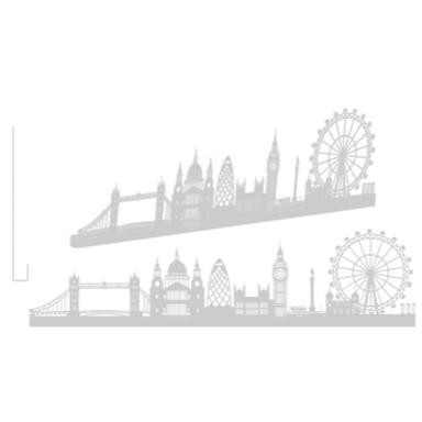 sticker LONDON GRAND ALU BROSSE SHADOW-3D
