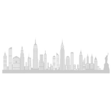 sticker NEW YORK GRAND ALU BROSSE SHADOW-3D
