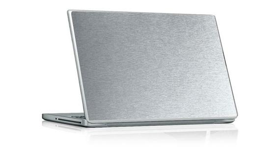 sticker Aluminium Brossé pour PC portable