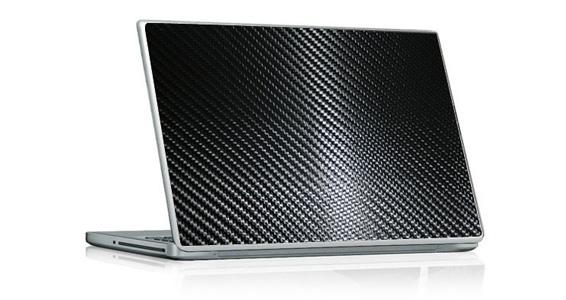 sticker Carbone Noir pour PC portable