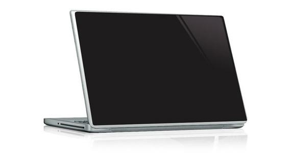 sticker Noir ébène pour PC portable