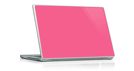 sticker Rose bonbon pour PC portable