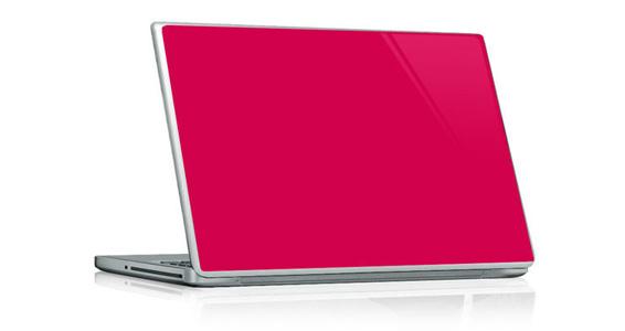 sticker Rose framboise pour PC portable