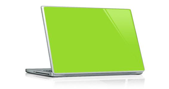 stickers muraux vert pomme pour pc portable sticker. Black Bedroom Furniture Sets. Home Design Ideas