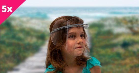 sticker PACK ENFANT OURSON VISIERES DE PROTECTION SANITAIRE BY LTP