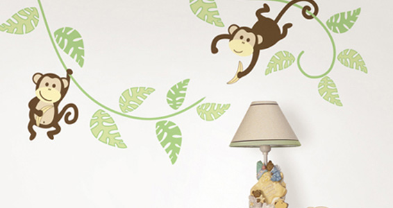 Sticker Wall art kit large -Monkeying around wp