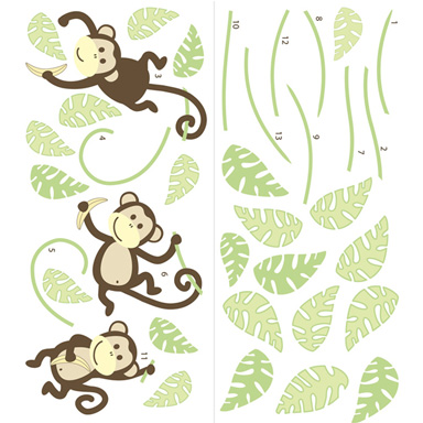 sticker Wall art kit large -Monkeying around wp