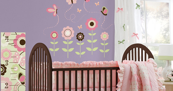 Sticker Wall art kit large - butterfly garden wp