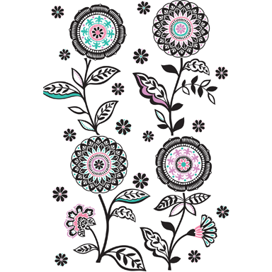 sticker Floral medley wp