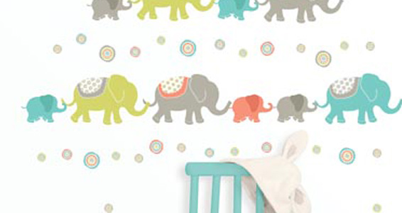 Sticker Wall art kit small - tag alongelephants wp