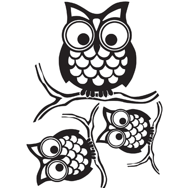 sticker Give a hoot wp