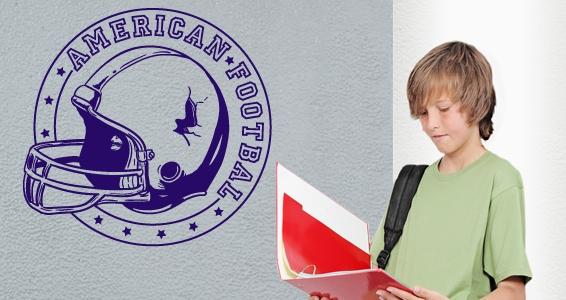 sticker Casque football américain