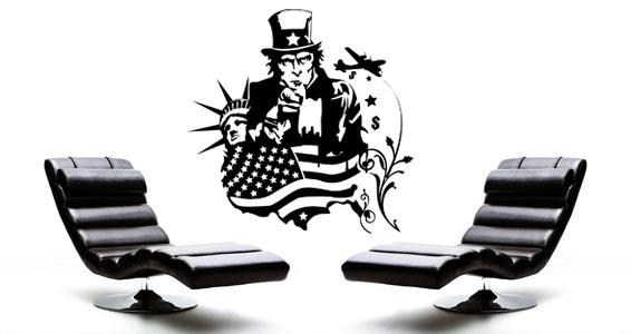 sticker Le rêve américain