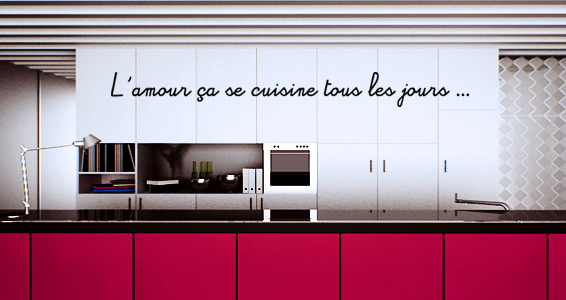 sticker Citation Amour et Cuisine