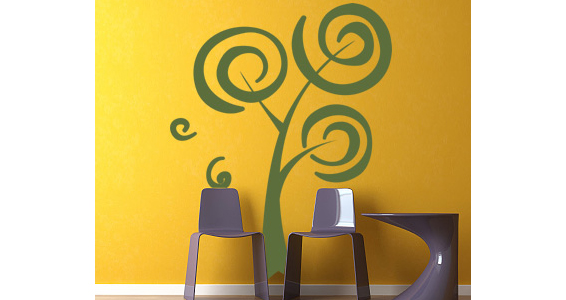 sticker arbre spirale