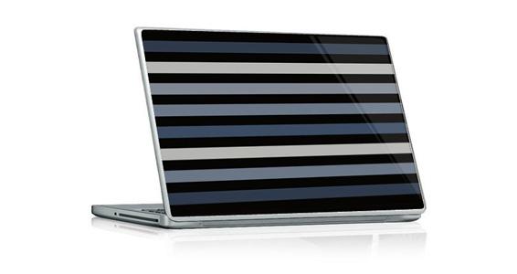 sticker Bayadère gris pour PC portable