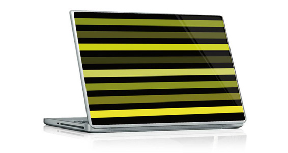 sticker Bayadère vert pour PC portable