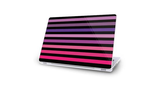 sticker Bayadère rose pour Mac Book