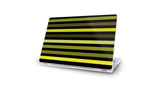 sticker Bayadère vert pour Mac Book