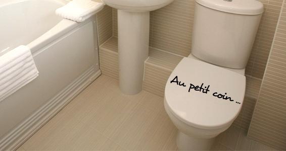 sticker Au Petit Coin pour WC