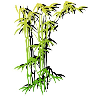 Sticker Bambou Et Son Ombre