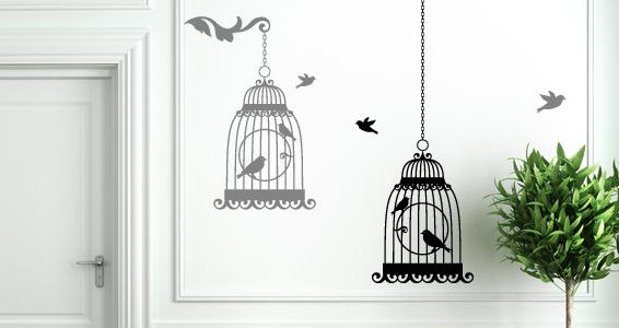 sticker La cage à oiseaux