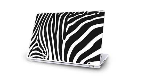 sticker Zèbre noir pour Mac Book