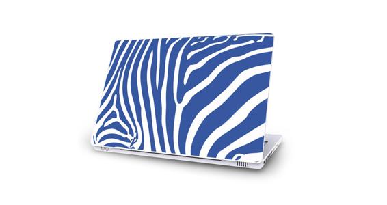sticker Zèbre bleu pour Mac Book