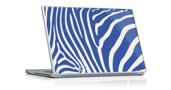 sticker Zèbre bleu pour PC portable