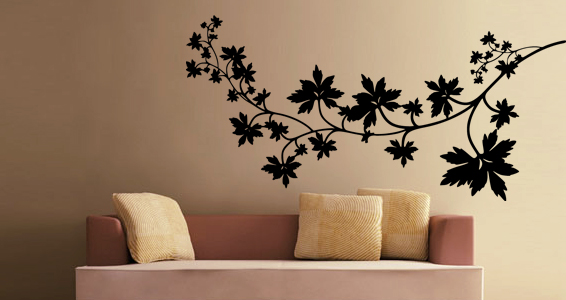 stickers muraux branche d 39 automne sticker d coration murale. Black Bedroom Furniture Sets. Home Design Ideas