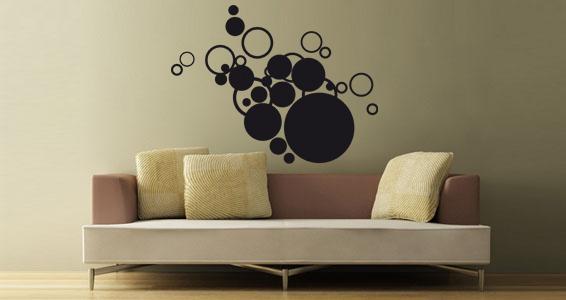 Stickers muraux bulles nuages sticker d coration murale - Pose stickers muraux ...