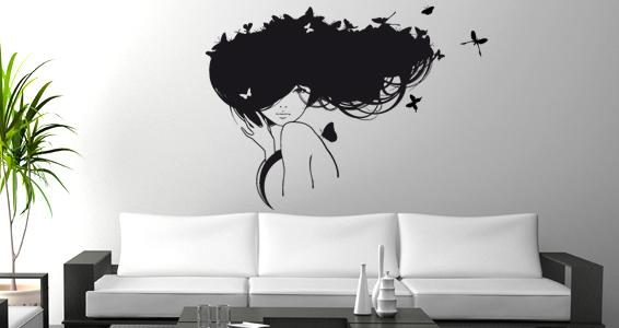 sticker Papillons dans les cheveux