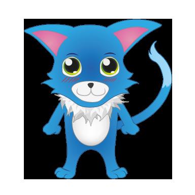 sticker chat bleu