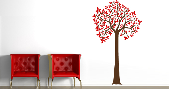 sticker Arbre couleur