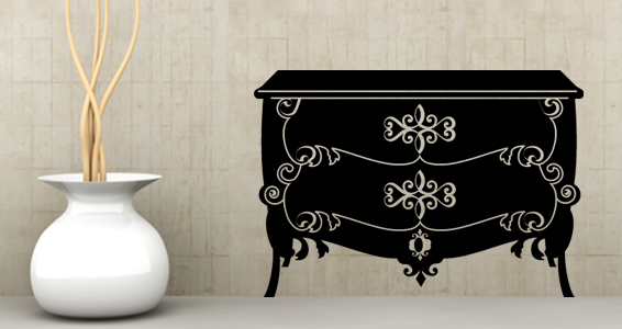 sticker Sticker Commode Baroque