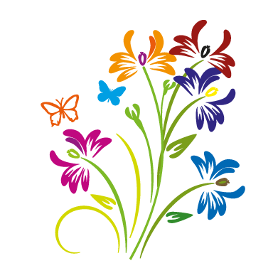 stickers muraux composition florale sticker d coration murale. Black Bedroom Furniture Sets. Home Design Ideas